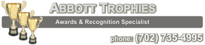 Abbott Trophies - las vegas, henderson, boulder city, pahrump, jean, nevada, trophies, trophy,